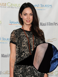 Strong And Intelligent Megan Fox Tattoo Inspiration