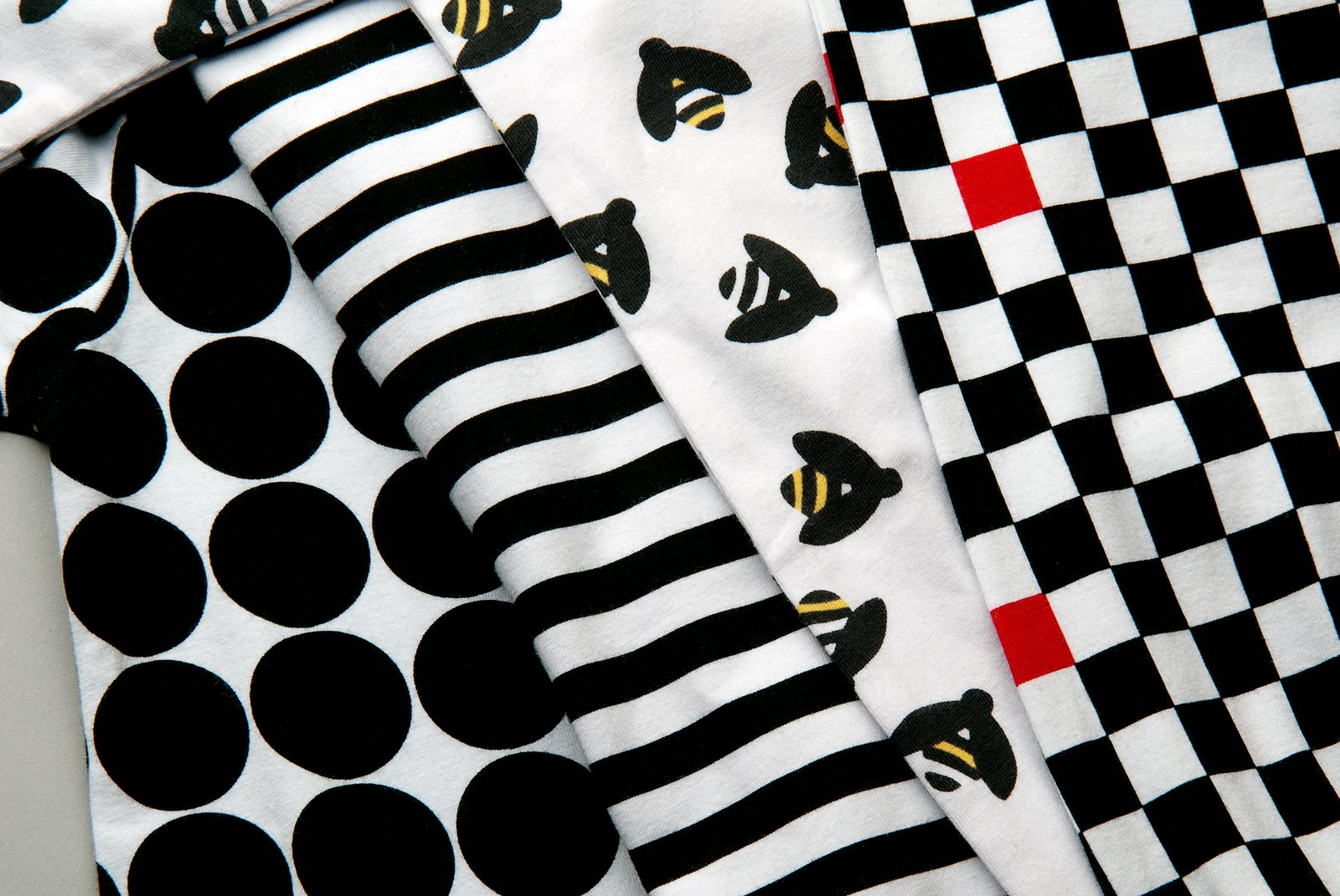 Tutortogs' patterns, for both baby and mom, consist of black and white ...
