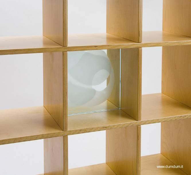 Arquitectura de casas moderna estanter a cuadrada de madera - Estanterias de diseno ...