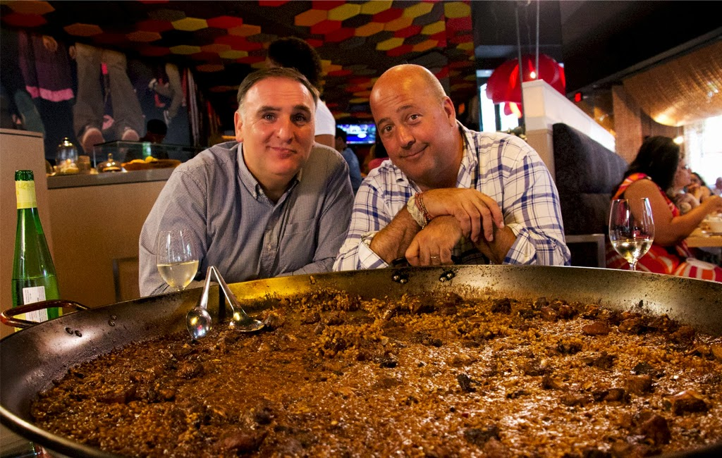 Andrew Zimmern con Jose Andres
