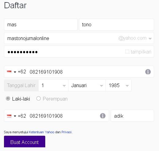 Cara Buat Email di Yahoo Indonesia