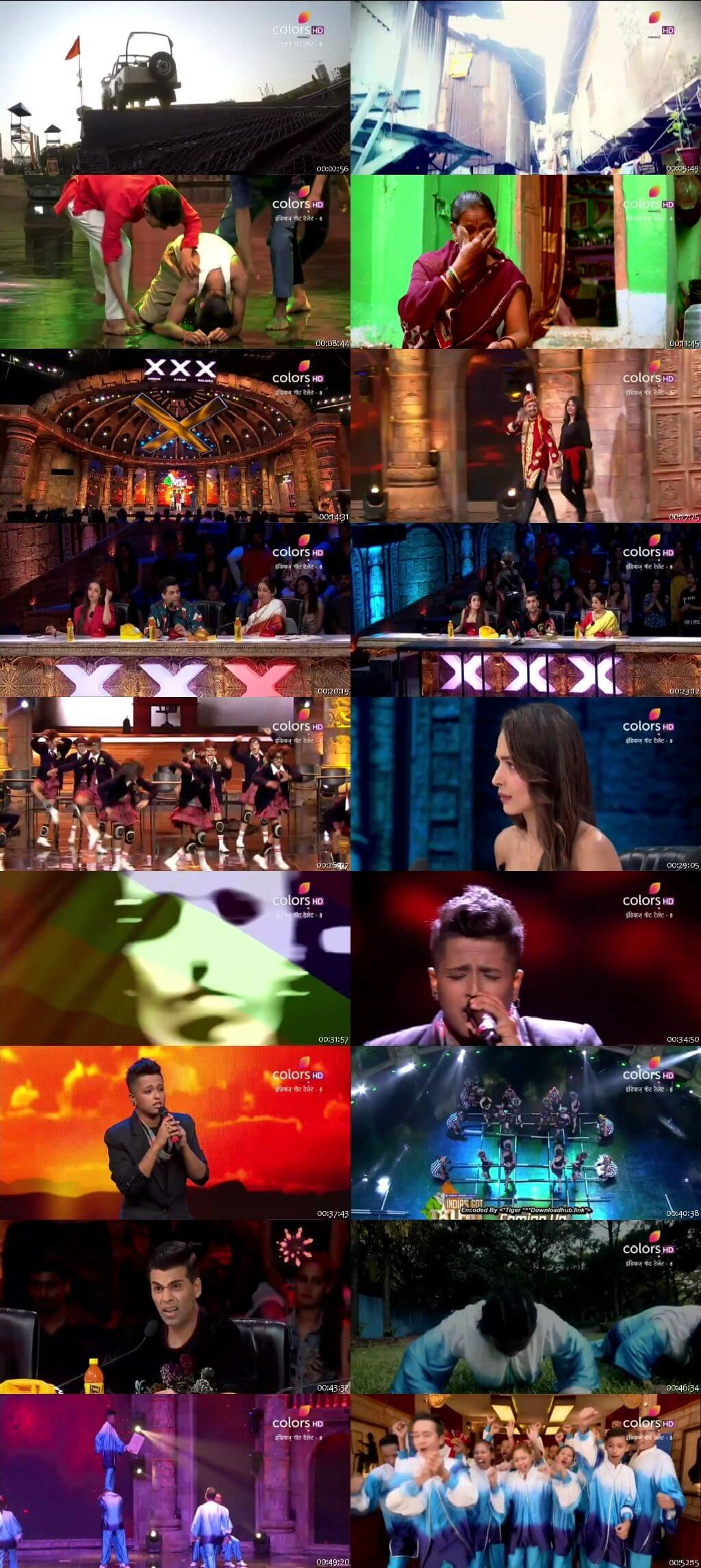 Screenshots Of Hindi Show India's Got Talent 2018 Season 08 Episode 08 11th November 300MB 480P HD