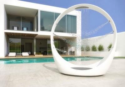 diseño ducha futurista
