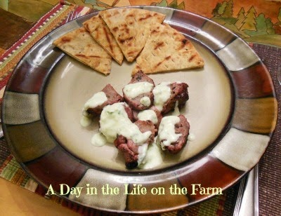 Member Fave: Pork Souvlaki from A Day in the Life on the Farm #recipe #maindish #pork #SecretRecipeClub