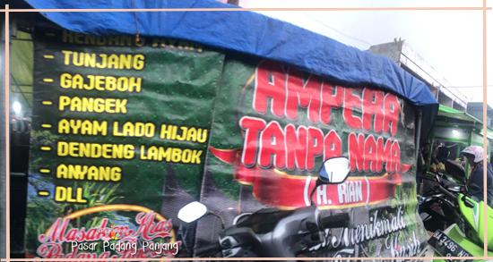 alamat Ampera tanpa nama di padang Panjang