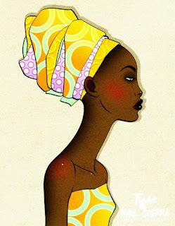 Oleos Mujeres Africanas