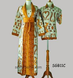 Foto Model Baju Batik Sarimbit Gamis