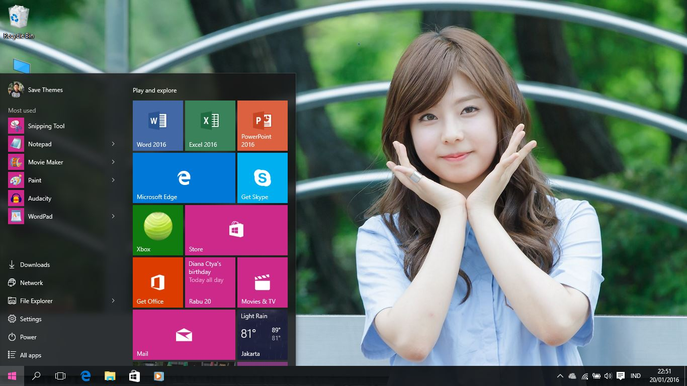 korean girls theme for windows 8 and 10   windows 10 themes
