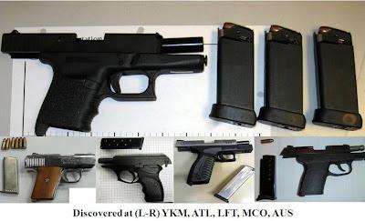 5 loaded pistols.