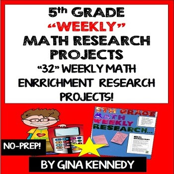 5TH GRADE MATH RESEARCH PROJECTS