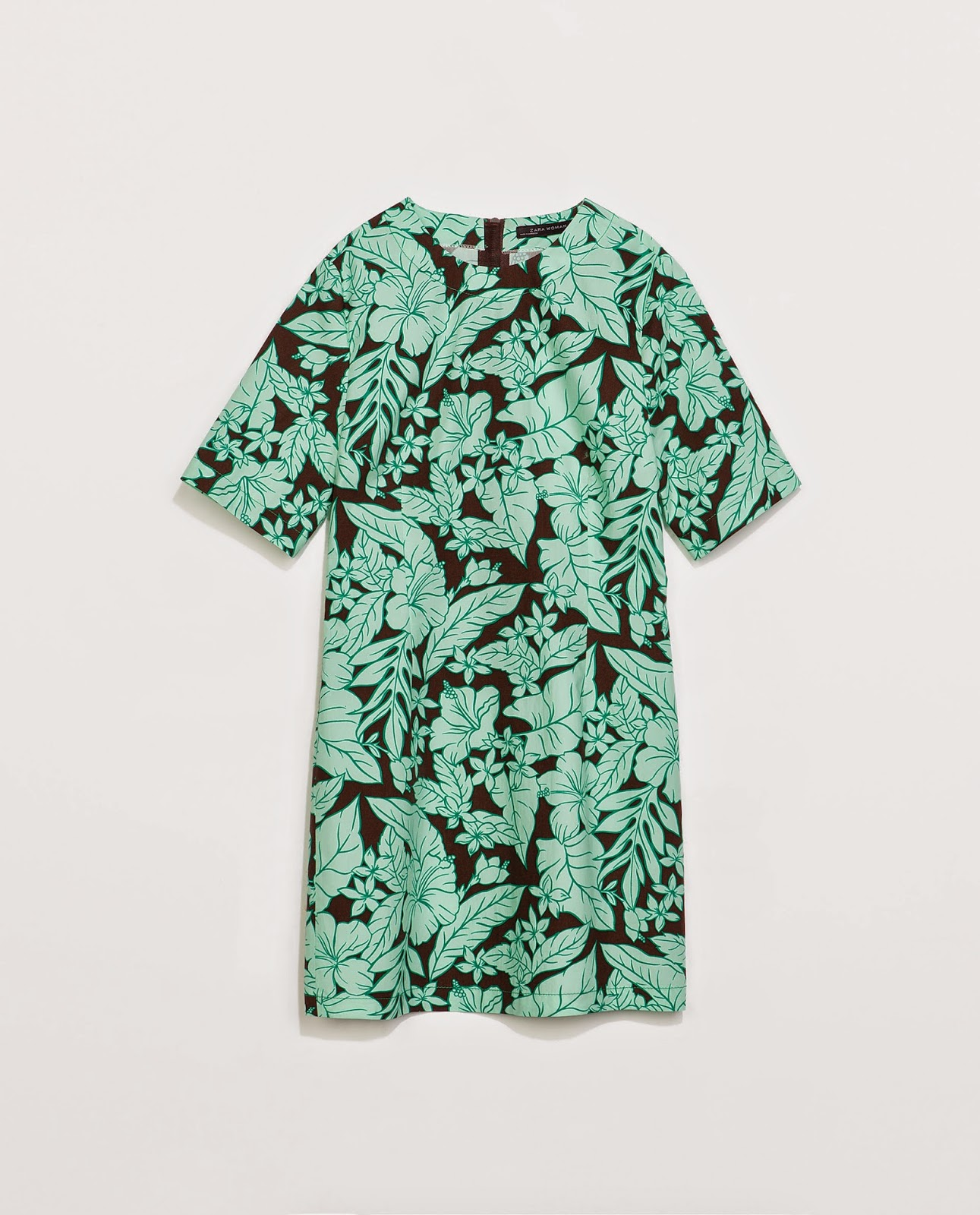 zara tropical dress