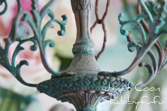 vintage rusty chandelier