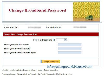 Change Broadband Password