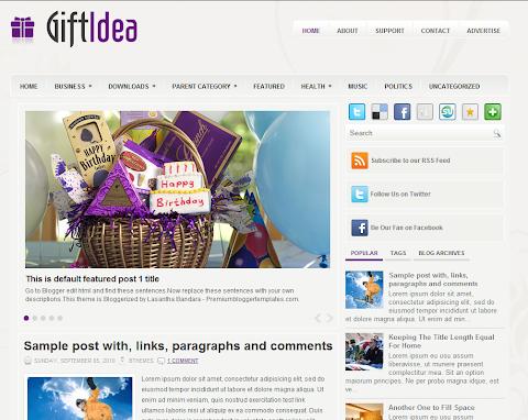 GiftIdea Blogger Theme