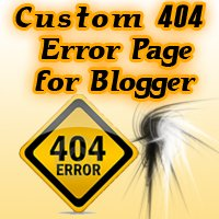 Custom 404 Error Page for Blogger