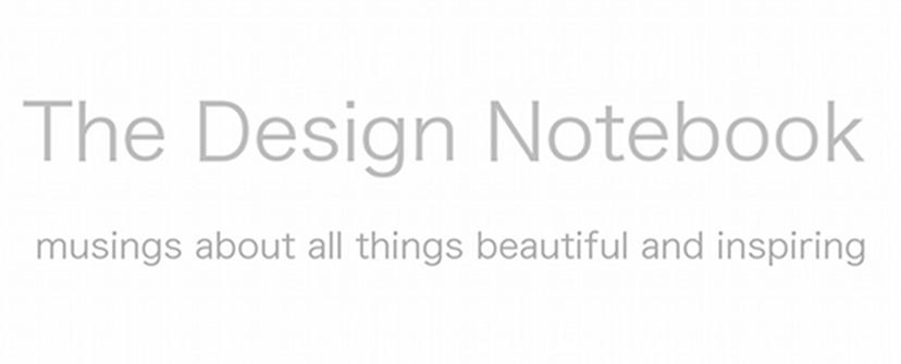 The design notebook