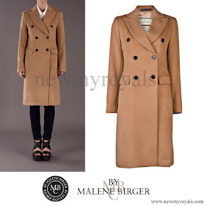 Crown Princess Mary wore By Malene Birger Beige Torun Coat