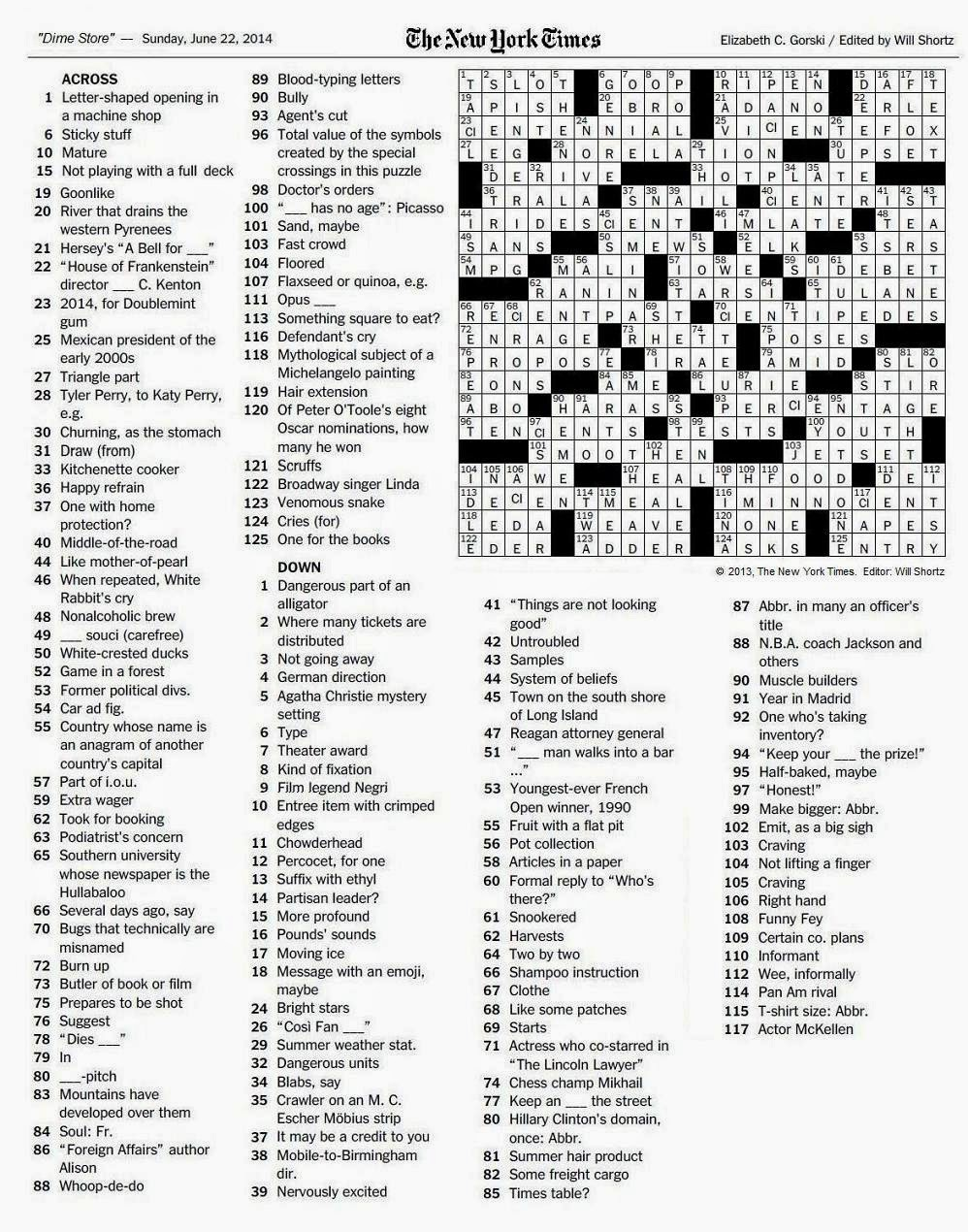The new york times crossword in gothic june 2014 click on image to enlarge or right click and select open link in new window biocorpaavc