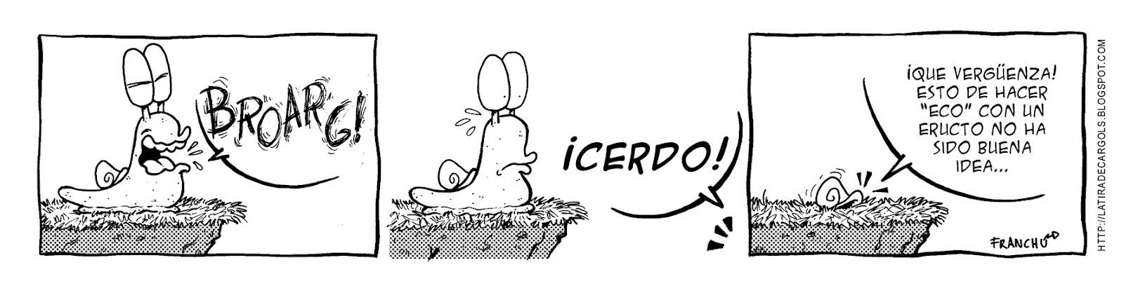 Tira comica 121 del webcomic Cargols del dibujante Franchu
