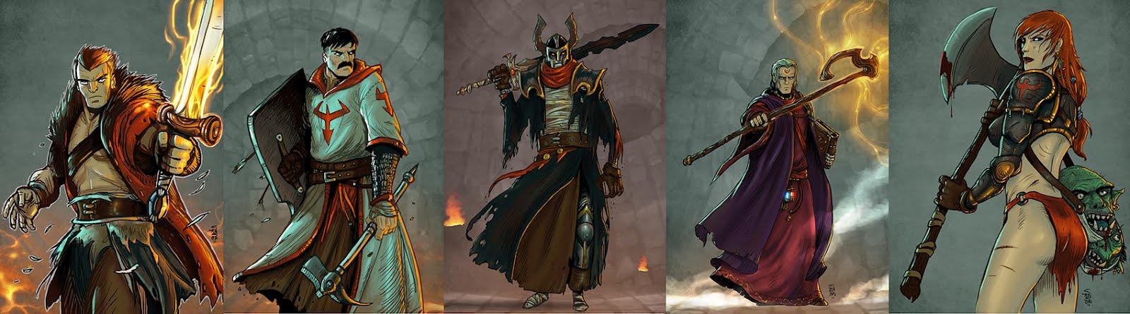 Illustration style fantasy Archetypes