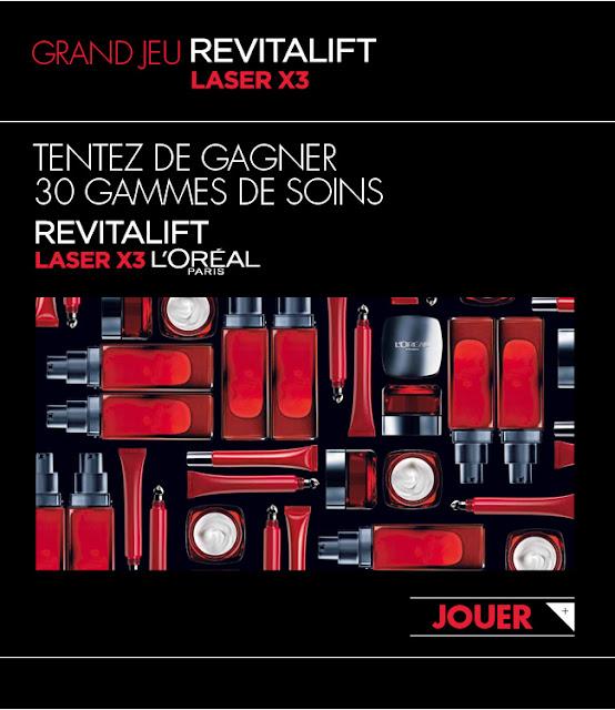 30 gammes complètes de soins Revitalift Laser  L'Oréal