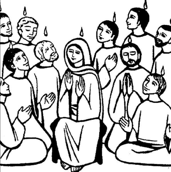 Compartiendo por amor: Dibujos Pentecostés