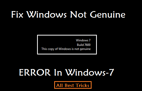 this copy of windows 7 is not genuine fix crack