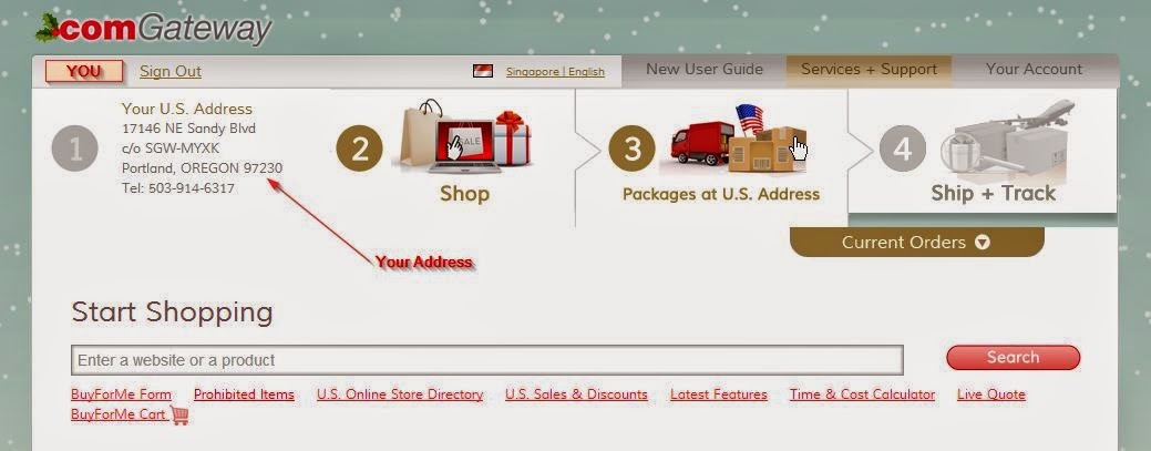 Your ComGateWay Personalized Address