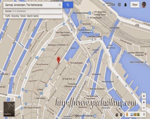 Peta Damrak Amsterdam