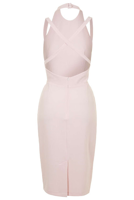 pink cross strap dress, pale pink halter dress, love halter neck dress,