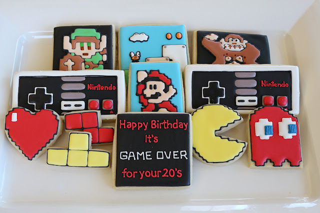 nintendo cookies, Mario, Zelda, PacMan, Donkey Kong