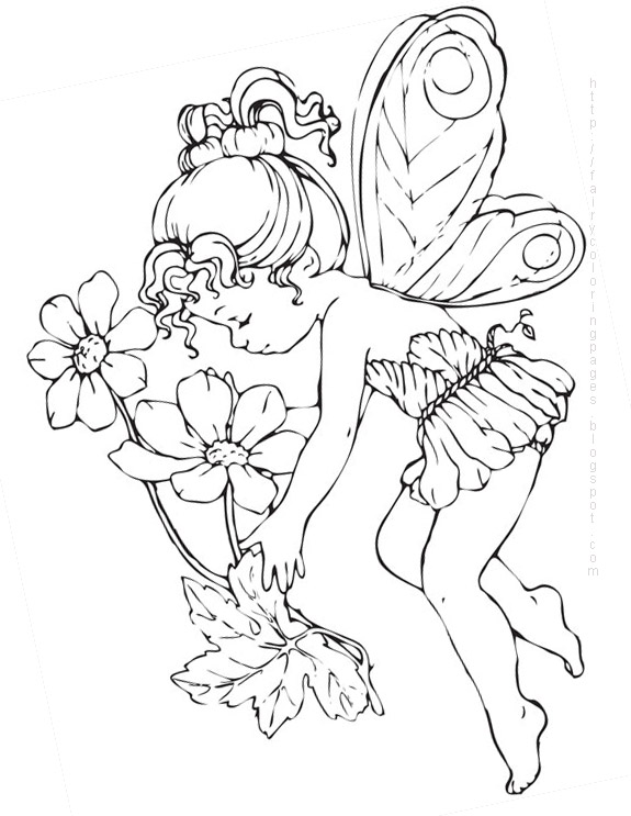 fairiy coloring pages - photo#8