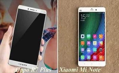 Harga dan Spesifikasi Lengkap Phablet Terbaru Xiaomi Mi Note Pro Vs Oppo R7 Plus tahun 2015