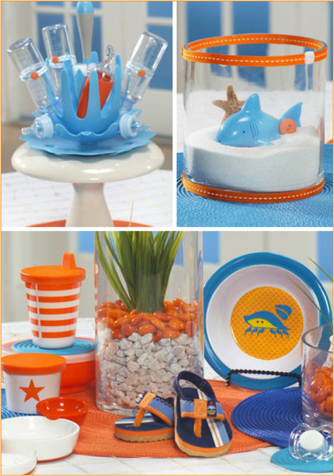 Beach Theme Party Centerpiece Ideas : Let s decorate online baby party decorations