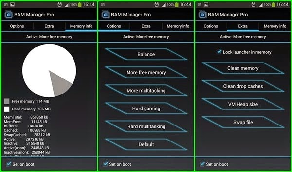 Preview RAM Manager Pro | Andromin.com
