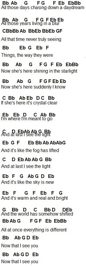 Flute Sheet Music: I See The Light