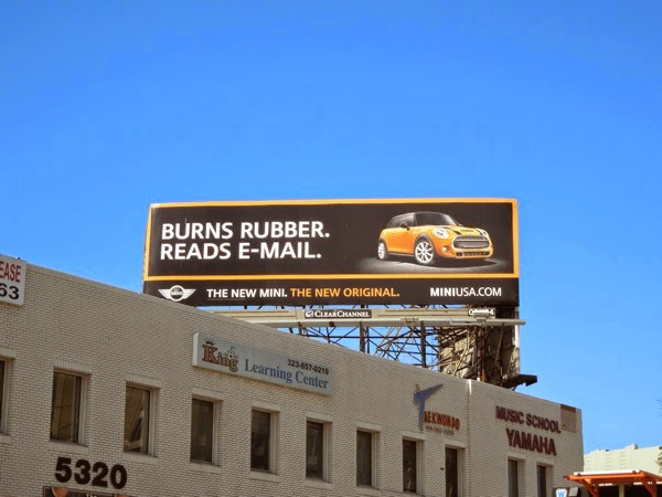Mini Burns rubber reads email billboard