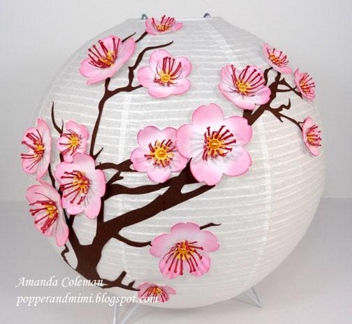 Cherry Blossom Chinese Lantern Décor