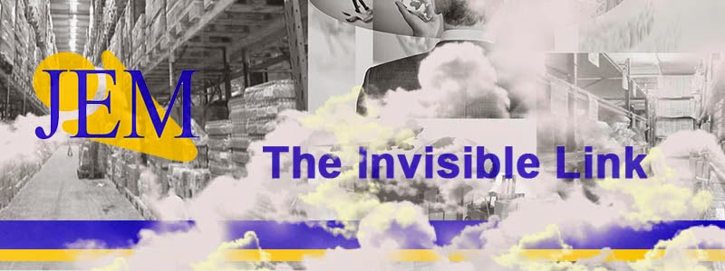 A banner with the JEM Logo and saying 'The invisible link'