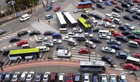 Kawasan jalur bebas sepeda motor di Jakarta