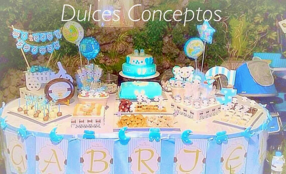 Decorci n baby shower ni o ni a recuerdos juegos for Mesa de dulces para baby shower nino