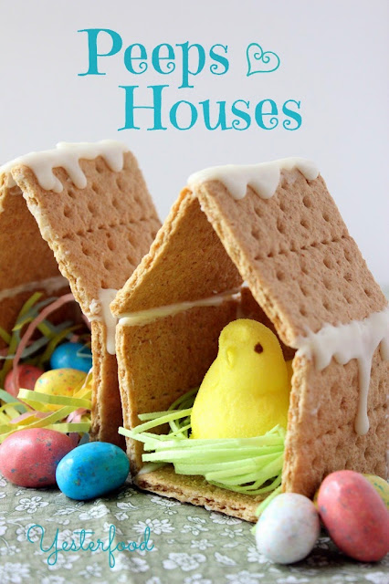 graham cracker bird houses, Easter food