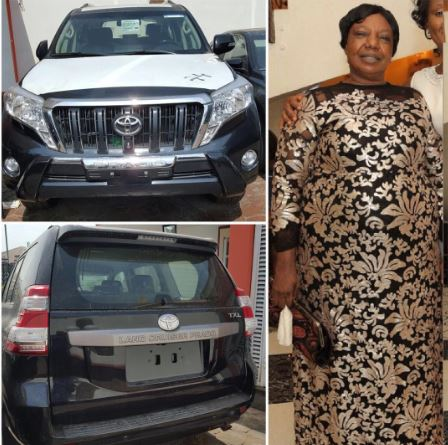 Kcee Buys His Mum A Brandnew Prado Jeep For Her Birthday