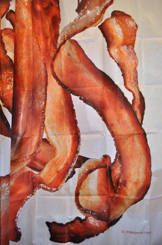 Merveilleux Bacon Shower Curtains