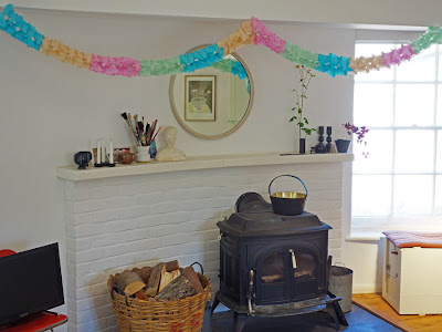 Mantle piece and wood burner