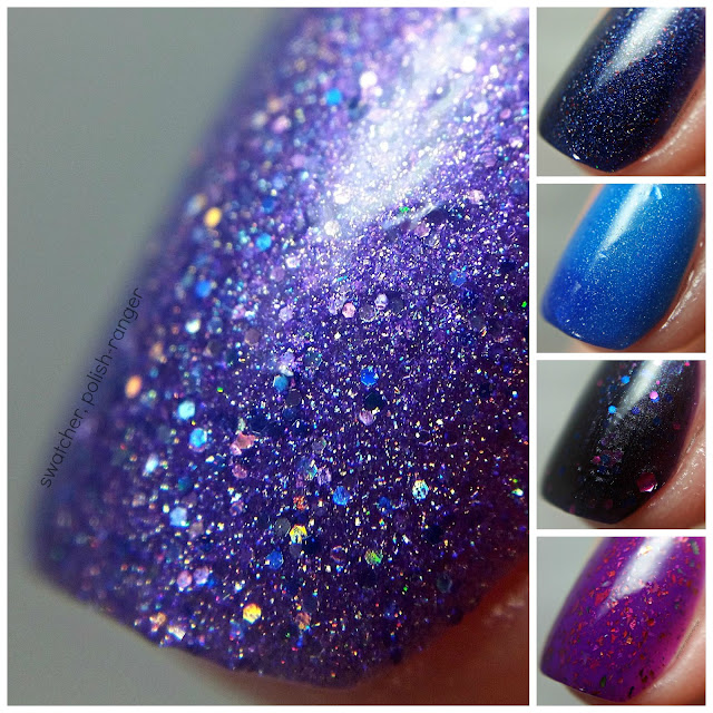swatcher, polish-ranger | Pretty & Polished The Color Purple macro collage
