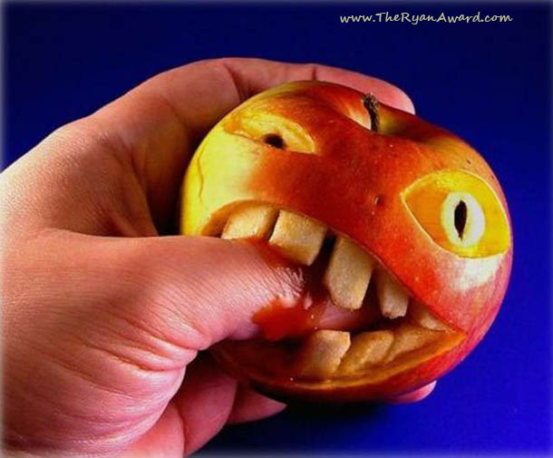 Crazy Apple Carving Art