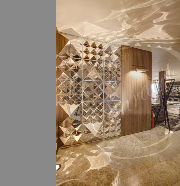 Mirror Panels For Walls modern interior design: panton modern mirror panton wall sculpture