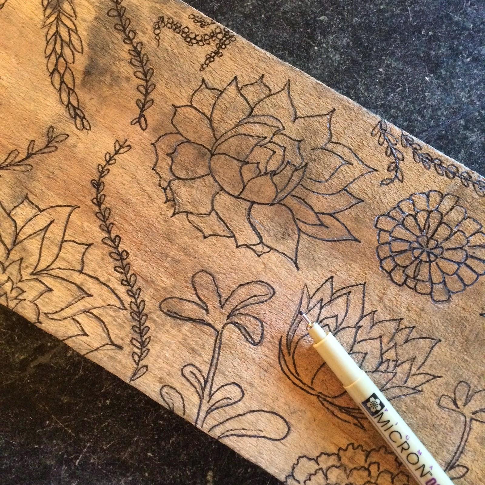 succulent sketch | www.brooklynlimestone.com