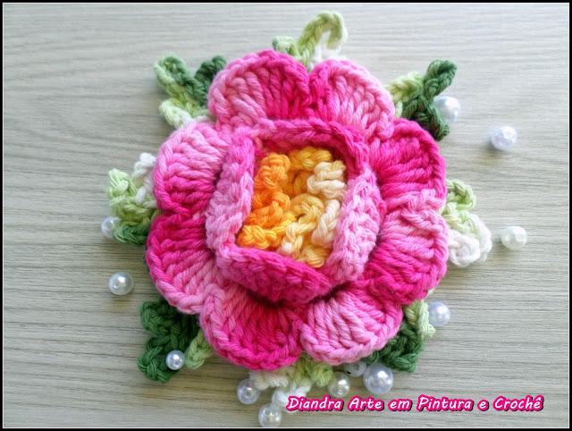Tapete Rosa Franzida Com Miolo : Flor Fernanda, criei esta flor em homenagem a minha filha. Para este